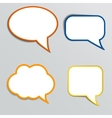 Stickers in form of speech bubbles vector image vector image