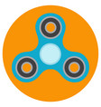 the blue hand-spinner is of classical shape vector image vector image