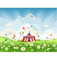 travelling circus vector image vector image