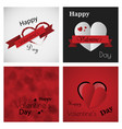 valentines day party flyer eps10 vector image