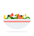 vegetable salad in a dish flat material design vector image vector image