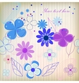 Vintage flower on background vector image vector image