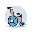 wheelchair icon cartoon vector image vector image