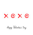 xoxo hugs and kisses sign symbol mark love red vector image vector image