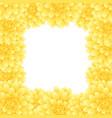 yellow dahlia border style 2 vector image vector image