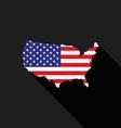 USA America flag map flat design icon vector image