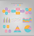 infographic set flat design of business icon vector image