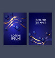 abstract geometric flyer collections with light vector image