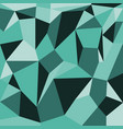 abstract polygons green background vector image vector image