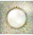 Abstract stars background with Christmas vector image vector image