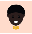 African American Boy Isolated vector image vector image