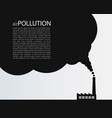 air pollution grunge background template industri vector image vector image