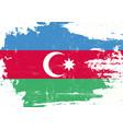 azerbaijan scratched flag vector image vector image