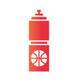 basketball game hydration bottle equipment vector image vector image