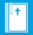 bible icon white vector image vector image