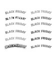 black friday on colorful banner for special price vector image vector image