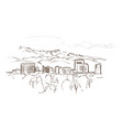 boise idaho sketch line usa landscape hand drawn vector image vector image