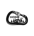 camping wildlife badge mountain climbing and vector image vector image