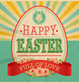 Card easter vector image