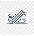 check concept linear icon isolated on transparent vector image