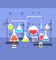 chemistry laboratory experiment research lab vector image vector image