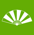 chinese fan icon green vector image vector image