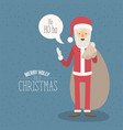 color poster with sparks merry holly jolly vector image