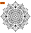 Coloring Book Page with Flower Mandala vector image
