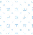 commerce icons pattern seamless white background vector image vector image