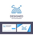 creative business card and logo template nature vector image