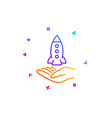 crowdfunding line icon launch startup project vector image