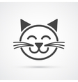 Cute cat icon element for design vector image vector image