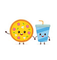 cute funny smiling happy pizza vector image vector image
