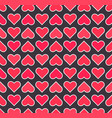 cute red hearts pattern for valentines day vector image vector image