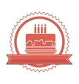 delicious cake birthday card vector image