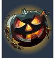 drawn cartoon Halloween pumpkin falling apart vector image vector image