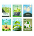 ecology 6 mini banners collection vector image vector image