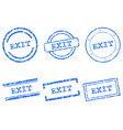 exit stamps vector image vector image