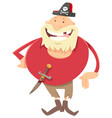 fantasy pirate cartoon vector image vector image
