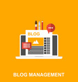 flat of a blog management vector image vector image