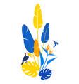 floral pattern background frame border tropical vector image vector image