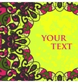Folk Motif Frame for Text Design vector image vector image