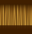 gold empty stage with curtain seamless template vector image