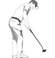 golf player poster vector image vector image