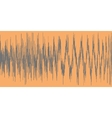 Gray sound wave on a orange background vector image vector image