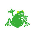 green cartoon frog isolated vector image vector image