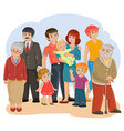 happy family - great-grandfather great vector image vector image