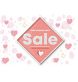 happy valentine s day sale seasonal banner top vector image vector image