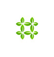 hashtag symbol eco leaves logo icon design vector image