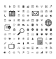 icons set business calendar documents vector image vector image